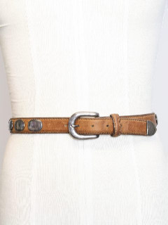 1980's Mens Accessories - Western Leather Hippie Belt