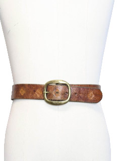 1970's Unisex Leather Hippie Belt