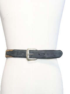 1980's Mens Accessories - Suede Leather Western Belt