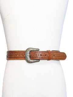 1970's Mens Accessories - Braided Leather Western Belt