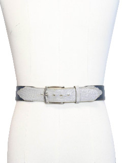 1980's Mens Leather Western Belt