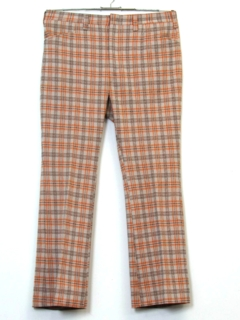 1970's Mens Plaid Leisure Pants