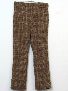 1970's Mens Mod Plaid Leisure Pants