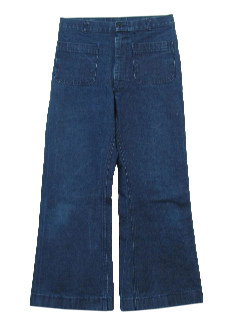 1970's Mens Slightly Faded Hipipe Bellbottom Jeans Pants