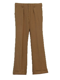 1970's Mens Pleated Flared Disco Pimp Pants