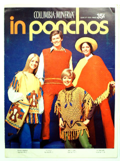 1970's Knitted Poncho Leaflet Book