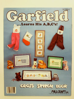 1980's Cross Stitch Garfield Alphabet Craft Book