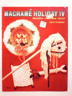 1980's Macrame Holiday Craft Book