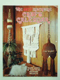 1970's Home Decor - Macrame Calendar