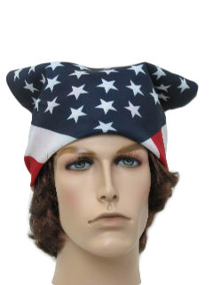 1990's Unisex Accessories - Duck Dynasty Style American Flag Bandana