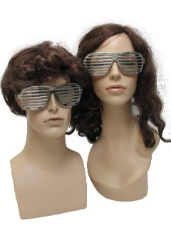 1980's Unisex Accessories - Totally 80s Shutter Shade Sunglasses