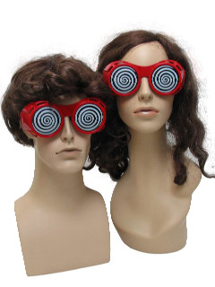 1970's Unisex Accessories - Dr Demento Style Red Ugly Christmas Party Sunglasses