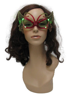 1990's Womens Accessories - Light up Butterfly Christmas PartySunglasses
