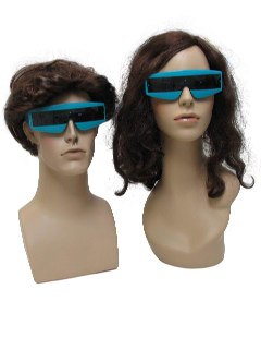 1980's Unisex Accessories - Totally 80s New Wave Punk Devo Style Wrap Sunglasses