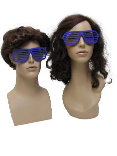 1980's Unisex Accessories - Totally 80s Style Shutter Shade Sunglasses