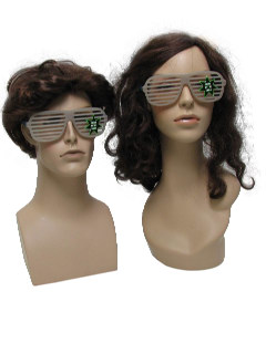 1980's Unisex Accessories - Totally Style 80s Glow in the Dark Shutter Shade Sunglasses