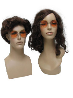 1970's Unisex Accessories - John Lennon or Janis Joplin Style Rimless Hippie Sunglasses