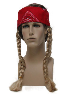 1970's Unisex Accessories - Hippie or Willie Nelson Headband Wig