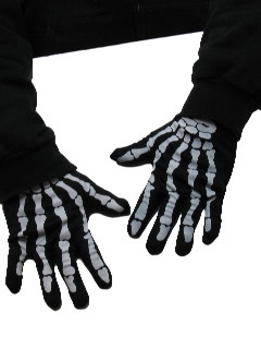 1990's Mens Accessories - Barry Weiss Storage Wars Style Skeleton Gloves