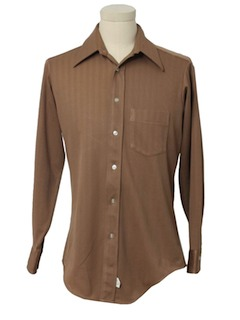 1970's Mens Solid Shirt