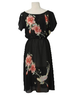 1980's Womens Print Dress