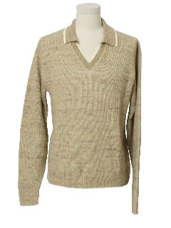 1960's Mens Mod Pullover Sweater