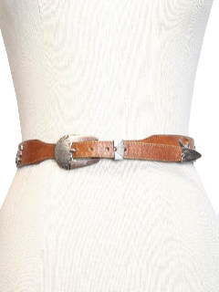 1980's Womens Accessories - Leather Western Belt