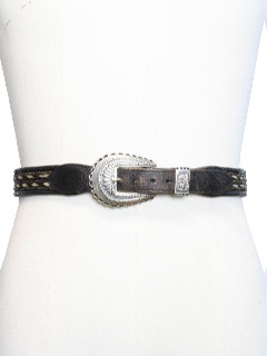 1980's Mens Accessories - Leather Western Belt