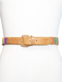 1980's Mens Accessories - Leather Hippie Belt