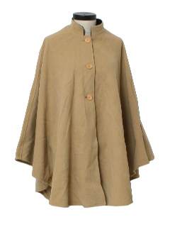 1970's Womens Wool Cashmere Cape Jacket