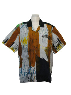 1980's Mens Hippie Sport Shirt