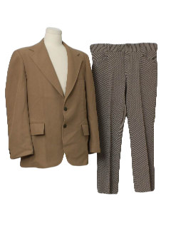 1970's Mens Mod Combination Suit