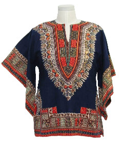 1970's Mens Hippie Dashiki Shirt