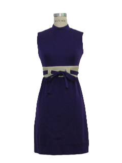 1970's Womens Mod Wool Dress
