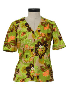 1960's Womens Hawaiian Hippie Shirt