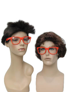 1980's Unisex Accessories - Totally 80s Style Wayfarer Glasses