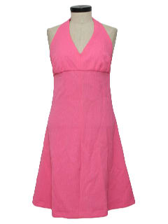 1970's Womens Halter Dress