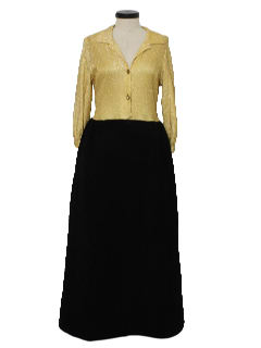 1960's Womens Casual Lounge Maxi Dress