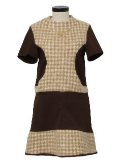 1970's Womens Mod Designer Mini Dress