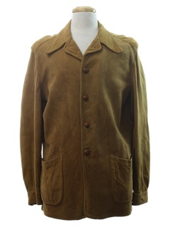 1940's Mens Leather Leisure Jacket