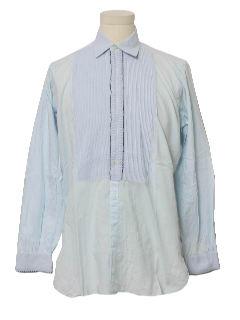 1960's Mens Tuxedo Shirt
