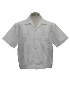 1970's Mens Mod Guayabera Shirt Jac