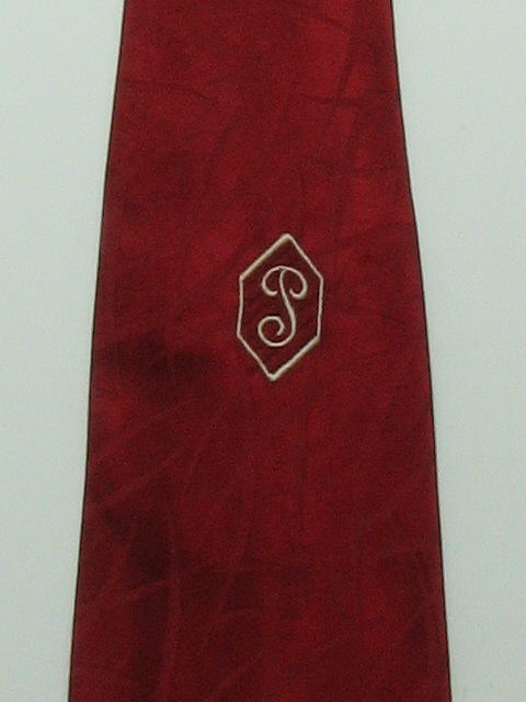 1940's Mens Wide Swing Initial Necktie