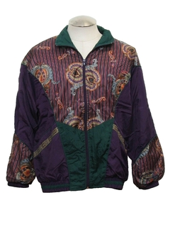 1990's Womens Wicked 90s Hip Hop Style Windbreaker Jacket
