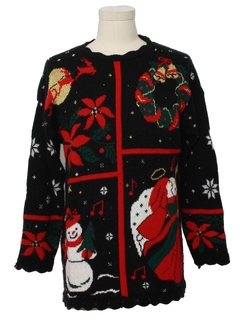 1980's Unisex Vintage Totally 80s Ugly Christmas Sweater