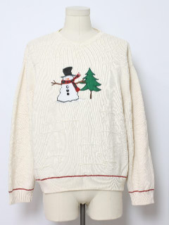 1980's Mens Minimalist Ugly Christmas Sweater