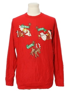 1980's Womens Vintage Totally 80s Ugly Christmas Sweatshirt
