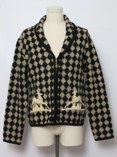 1990's Womens Ugly Christmas Cardigan Sweater Jacket