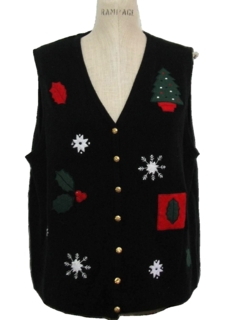 1980's Womens Christmas Sweater Vest