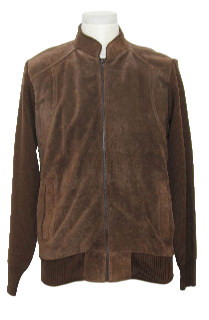 1970's Mens Suede Leather Sweater Jacket